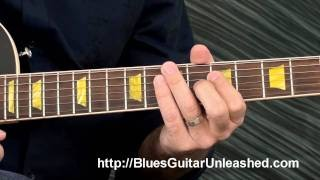 Blues Rhythm Guitar Lesson: Easy 2 Note Chords 12 Bar Blues