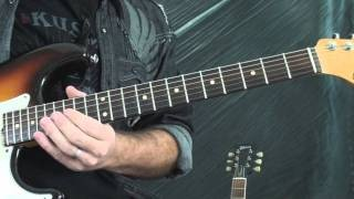 Blues Guitar Lessons - how to move a lick up an octave