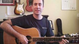 Easy Acoustic Guitar Lesson - The Most Popular Acoustic Guitar Strum In The World