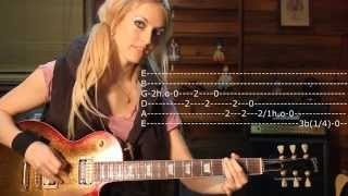 Emily Hastings Blues Lick 3 in E minor