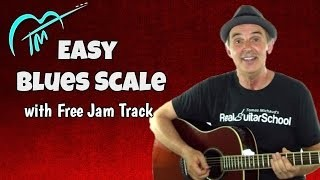 Easy Blues Scale Guitar Lesson And Free Jam Track