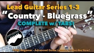 Country & Bluegrass Licks Guitar Lesson - Session #1-3